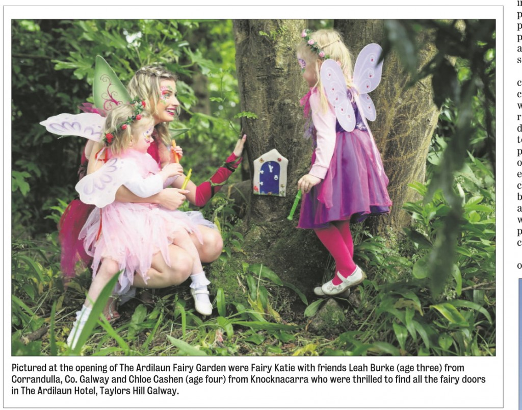 Press Cutting from Galway Advertiser - Ardilaun Fairy Garden Launch
